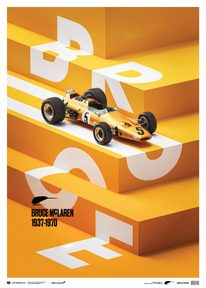 MCLAREN  PAPAYA - BRUCE MCLAREN SPECIAL - SPA-FRANCORCHAMPS CIRCUIT - 1968 | LIMITED EDITION - F1 POSTERS