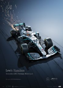 MERCEDES-AMG PETRONAS MOTORSPORT - 2019 - LEWIS HAMILTON | COLLECTOR'S EDITION - F1 POSTERS