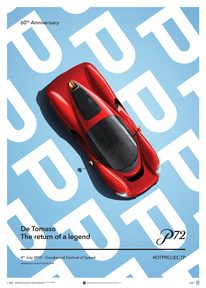 DE TOMASO PROJECT P - TOP VIEW - 2019 - POSTER - UNLIMITED EDITION