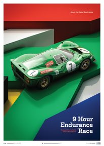 FERRARI 412P - GREEN - KYALAMI 9 HOUR - 1967 - LIMITED POSTER - LIMITED EDITION
