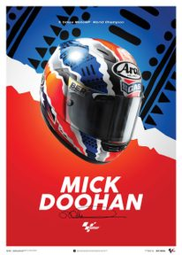 MICK DOOHAN - HELMET - 1999 - POSTER - UNLIMITED EDITION