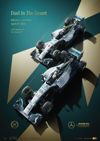 MERCEDES-AMG PETRONAS MOTORSPORT - 2014 - DUEL IN THE DESERT  | COLLECTOR'S EDITION - F1 POSTERS