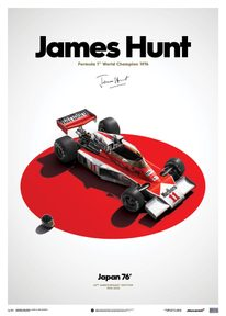MCLAREN M23 - JAMES HUNT - JAPAN - JAPANESE GP - 1976 - LIMITED POSTER - F1 POSTERS