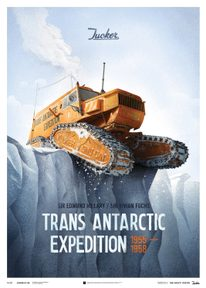 TRANS ANTARCTIC EXPEDITION TUCKER SNO-CAT 1958 DESIGN POSTER - LIMITED EDITION