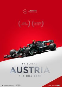MERCEDES-AMG PETRONAS F1 TEAM - AUSTRIA 2020 - VALTTERI BOTTAS | COLLECTOR'S EDITION - F1 POSTERS