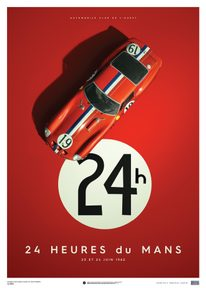 FERRARI 250 GTO - RED - 24H LE MANS - 1962 - LIMITED POSTER - LIMITED EDITION