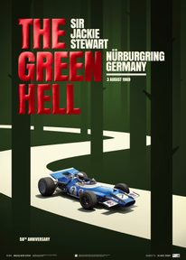 MATRA MS80 - SIR  JACKIE STEWART - THE GREEN HELL - NÜRBURGRING GP - 1969 | COLLECTOR'S EDITION POSTER - F1 POSTERS