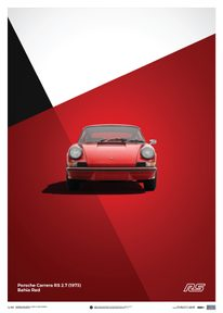 PORSCHE 911 RS - RED - LIMITED POSTER - LIMITED EDITION