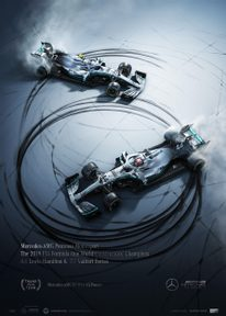 MERCEDES-AMG PETRONAS MOTORSPORT - 2019 - DONUTS | COLLECTOR'S EDITION - F1 POSTERS