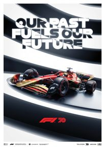 FORMULA 1® OUR PAST FUELS OUR FUTURE - 70TH ANNIVERSARY | LIMITED EDITION - F1 POSTERS