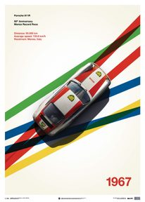 PORSCHE 911R - BP RACING - MONZA - 1967 - LIMITED POSTER - LIMITED EDITION
