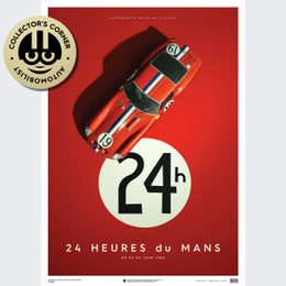 FERRARI 250 GTO - RED - 24H LE MANS - 1962 - LIMITED POSTER | UNIQUE #S - UNIQUE #S