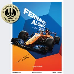MCLAREN  - FERNANDO ALONSO - MCL33 - 2018 - POSTER | SIGNED - SIGNED