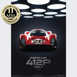 FERRARI 412P - RED - 24 HOURS OF DAYTONA - 1967 | COLLECTOR'S EDITION | UNIQUE #S - UNIQUE #S