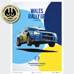 SUBARU IMPREZA WRC 2003 - PETTER SOLBERG - WALES RALLY GB | COLLECTOR'S EDITION | UNIQUE #S - UNIQUE #S