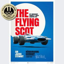 MATRA MS80 - SIR JACKIE STEWART - THE FLYING SCOT - NÜRBURGRING GP - 1969 - POSTER | SIGNED - SIGNED