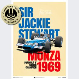 MATRA MS80 - SIR JACKIE STEWART - MONZA VICTORY - 1969 - POSTER | SIGNED - SIGNED