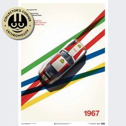 PORSCHE 911R - BP RACING - MONZA - 1967 - LIMITED POSTER | UNIQUE #S - UNIQUE #S