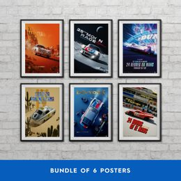 PORSCHE - PAST AND FUTURE COLLECTION | 6 POSTERS | COLLECTOR'S EDITION - COLLECTOR'S EDITION