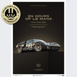 FORD GT40 - BLACK - 24H LE MANS - 1966 | COLLECTOR'S EDITION | UNIQUE #S - UNIQUE #S