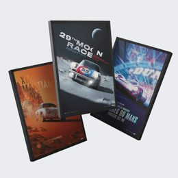 PORSCHE - THE FUTURE LIES AHEAD | 3 POSTERS | COLLECTOR'S EDITION - COLLECTOR'S EDITION