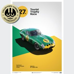 FERRARI 250 GTO - GREEN - GOODWOOD TT - 1962 - LIMITED POSTER | UNIQUE #S - UNIQUE #S