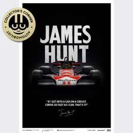 MCLAREN M23 - JAMES HUNT - QUOTE - JAPANESE GP - 1976 - LIMITED POSTER | SIGNED - SIGNED