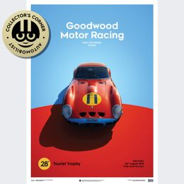 FERRARI 250 GTO - RED - GOODWOOD TT - 1963 - LIMITED POSTER | UNIQUE #S - UNIQUE #S
