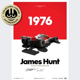 MCLAREN M23 - JAMES HUNT - MARLBORO - JAPANESE GP - 1976 - LIMITED POSTER | SIGNED - SIGNED