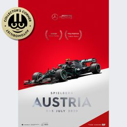 MERCEDES-AMG PETRONAS F1 TEAM - AUSTRIA 2020 - VALTTERI BOTTAS | COLLECTOR'S EDITION | UNIQUE #S - UNIQUE #S