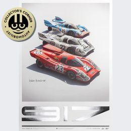 PORSCHE 917 - SALZBURG & MARTINI & GULF - 24H LE MANS | COLLECTOR'S EDITION | SIGNED - SIGNED