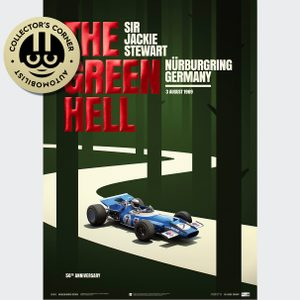 Matra MS80 - Sir  Jackie Stewart - The Green Hell - Nürburgring GP - 1969 | Collector's Edition Poster | Unique #s