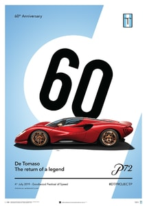 De Tomaso Project P - Side view - 2019 - Poster