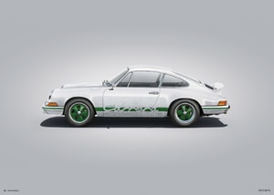 Porsche 911 RS - White - Colors of Speed Poster
