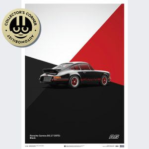 Porsche 911 RS - Black - Limited Poster | Unique #s