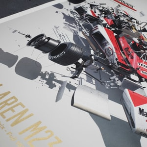 McLaren M23 - James Hunt - Japanese GP - 1976 - U&L Edition Poster