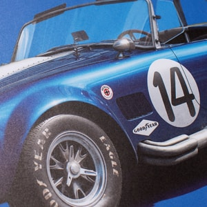 Shelby-Ford AC Cobra Mk III - Blue - 1965 - Colors of Speed Poster