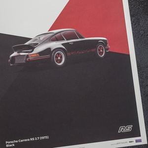 Automobilist - Porsche 911 RS - Black - Limited Poster - Design