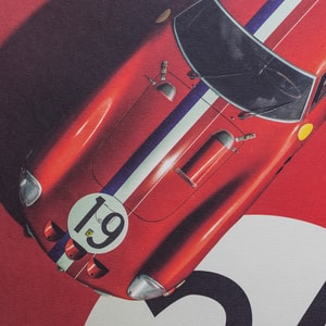 Ferrari 250 GTO - Red - 24h Le Mans - 1962 - Limited Poster