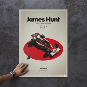 McLaren M23 - James Hunt - Japan - Japanese GP - 1976 - Limited Poster