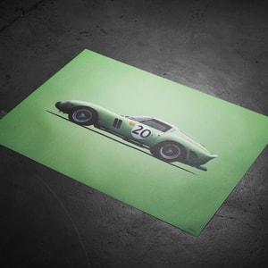 Automobilist Ferrari 250 Gto Green 24h Le Mans 1962 Colors
