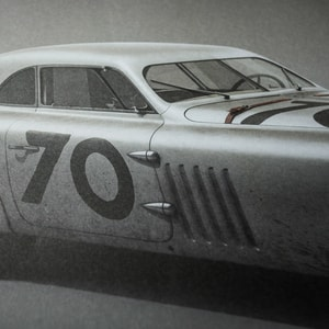 BMW 328 - Silver - Mille Miglia - 1940 - Colors of Speed Poster