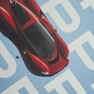 De Tomaso Project P - Top view - 2019 - Poster