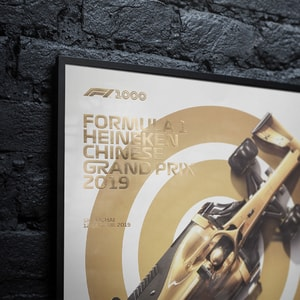 Formula 1® - 1000th Grand Prix™ - Gold - 2019 - U&L Edition Poster