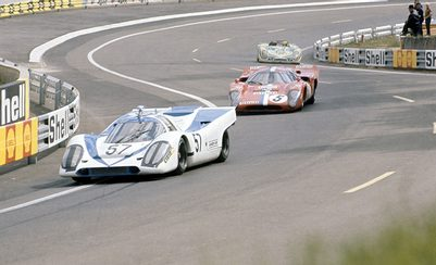 Piggyback: The Porsche trio at Le Mans, 1971