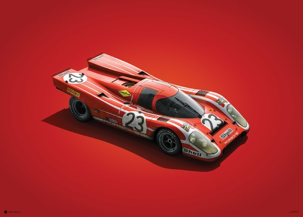 Porsche 917 - Salzburg - 24h Le Mans - 1970 - Colors of Speed Poster