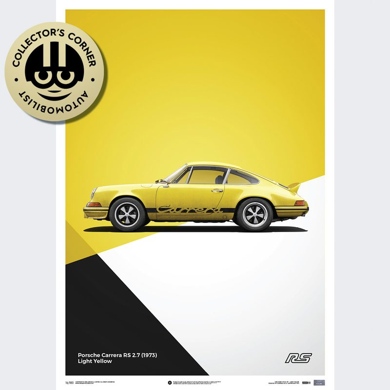 Porsche 911 RS - Yellow - Limited Poster | Unique #s