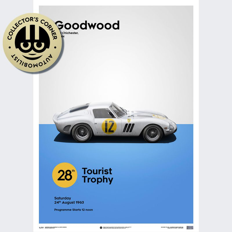 Ferrari 250 GTO - White - Goodwood TT - 1963 - Limited Poster | Unique #s
