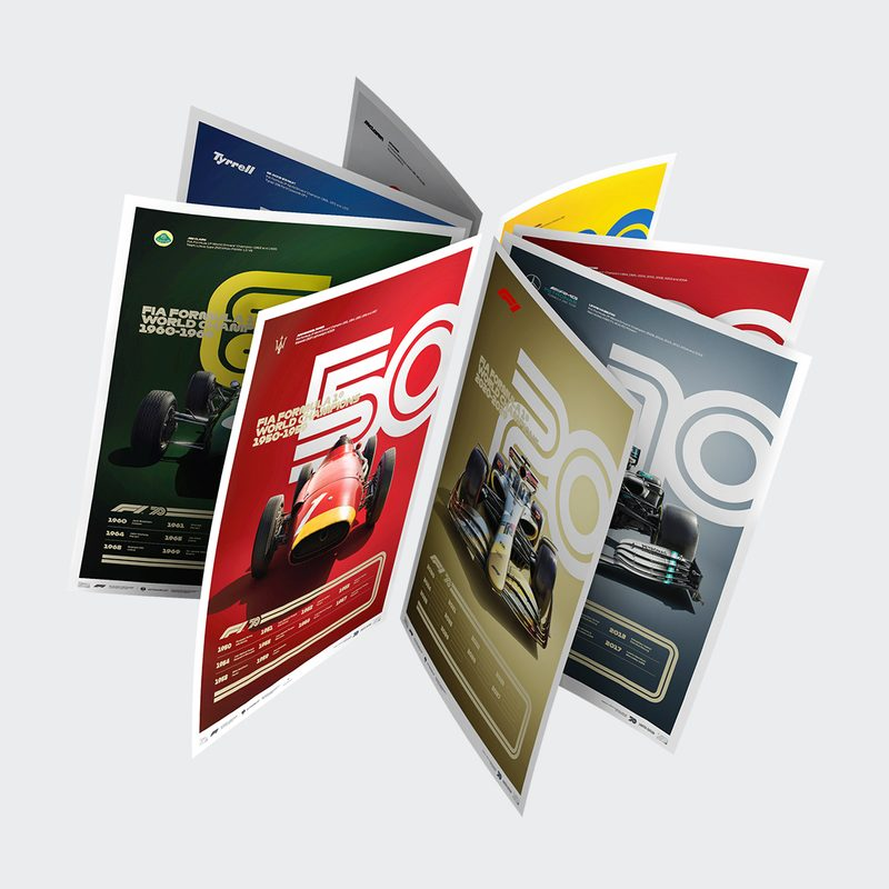FORMULA 1® DECADES - 8 POSTERS, ONE GLORIOUS HISTORY | LIMITED EDITION