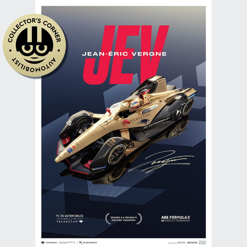 DS TECHEETAH - Formula E Team - Jean-Éric Vergne | Limited Edition | Signed